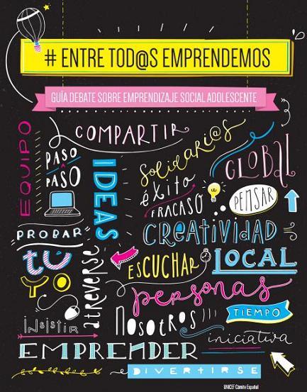 'Entre tod@s emprendemos'. Guía debate sobre emprendizaje social adolescente