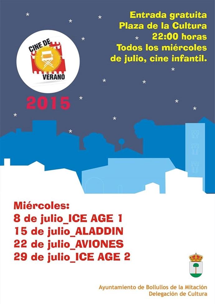 Cine de verano infantil en Bollullos de la Mitación (Sevilla) al gusto de los propios niños y niñas del municipio