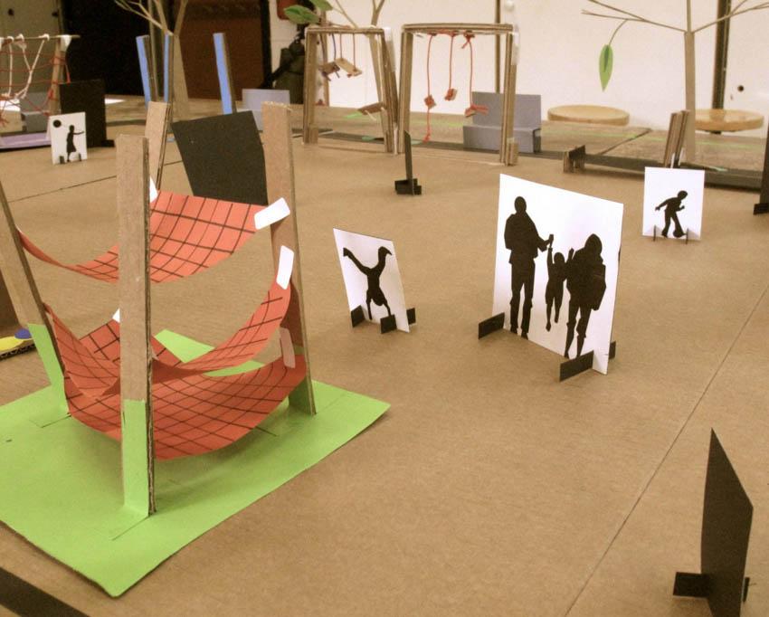 JolasPlaza, un grupo de niños diseña el parque infantil de su barrio en Portugalete