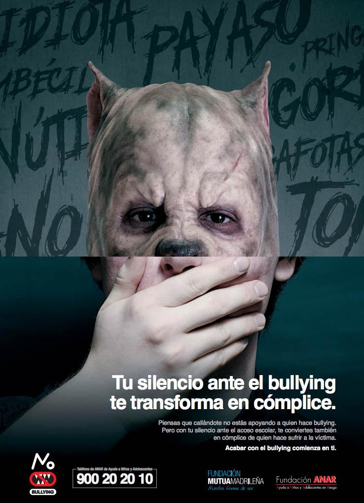 El acoso escolar está cargado de silencios