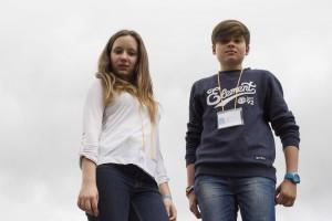 Laura y Sergio en el III Encuentro autonómico de Consejos de Infancia y Adolescencia de Castilla y León