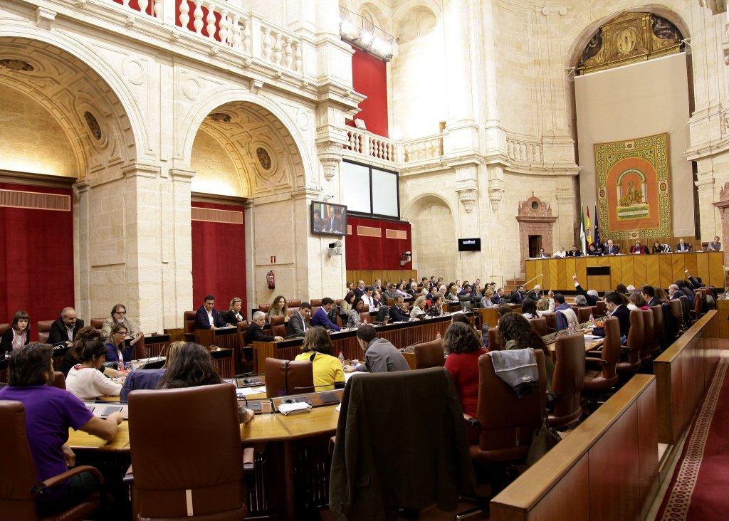 El Pleno del Parlamento, en una de las votaciones de la sesión / Parlamento de Andalucía