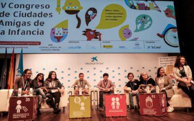 Ya están disponibles la memoria y el vídeo del V Congreso de Ciudades Amigas de la Infancia
