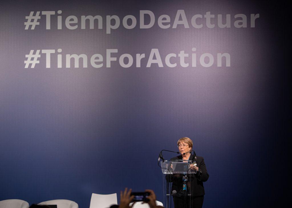 Michelle Bachelet en la COP25 / UNICEF Comité Español/2019/Adrián Herrero