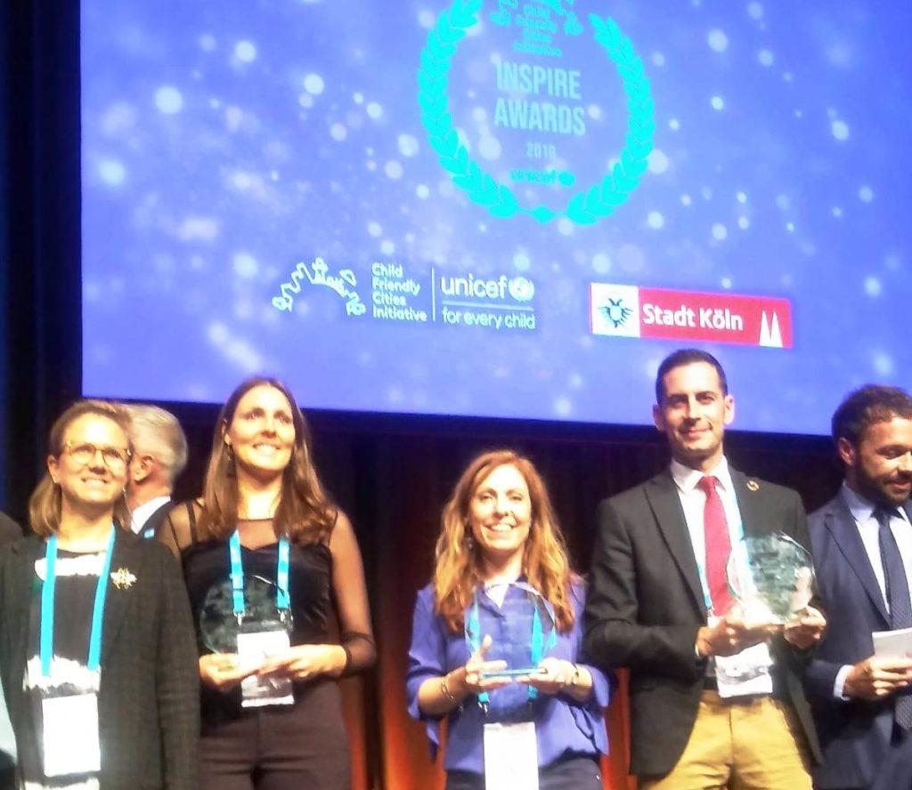 Recogida de los premios Inspire Awards