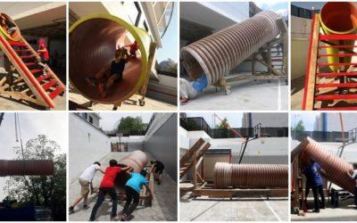 Autocoles: la idea de Basurama para repensar los patios escolares