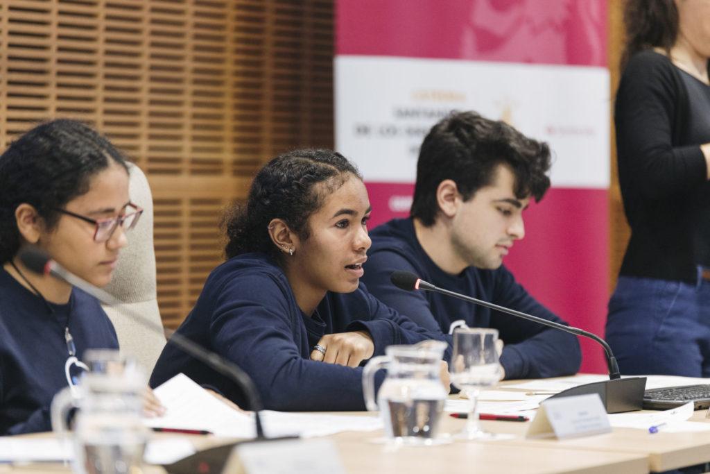 Jorge, Claudia y Valentina, del grupo de Participación Infantil de la Plataforma de Infancia EPIC / @Plataforma de Infancia/2020