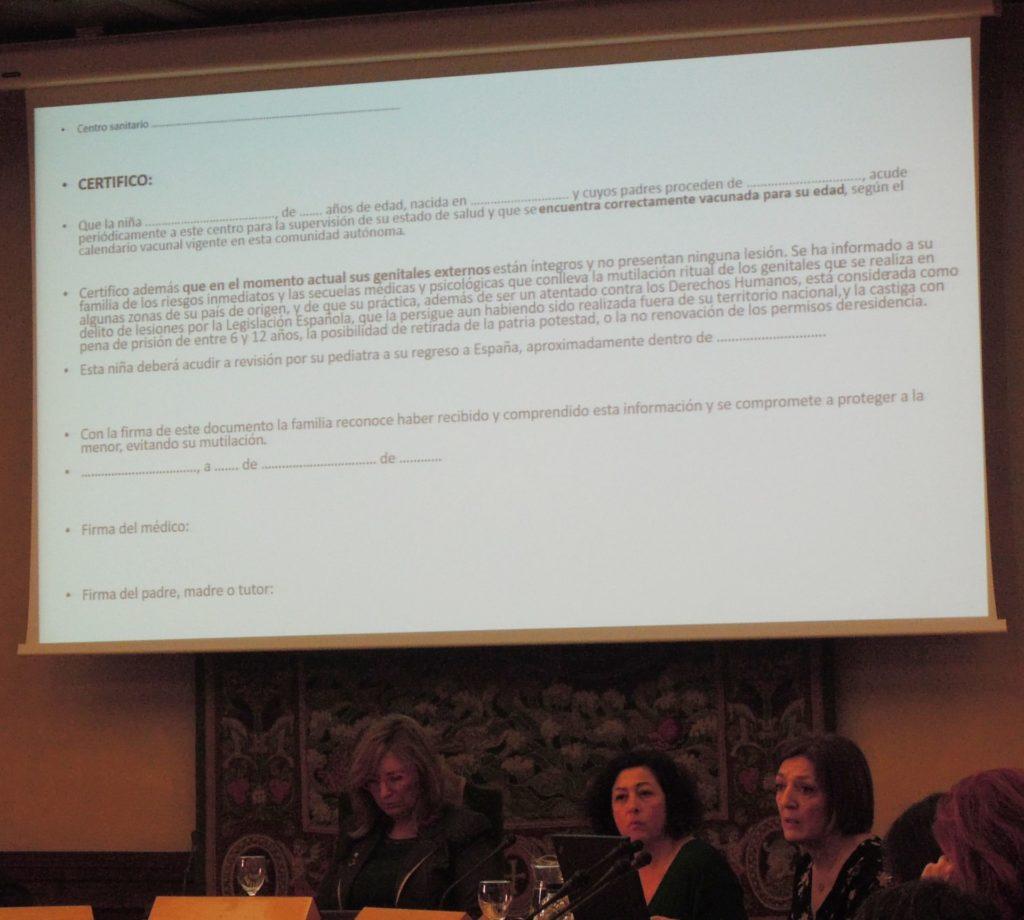Ejemplo de un documento de compromiso preventivo de la MGF para que lo firmen las familias