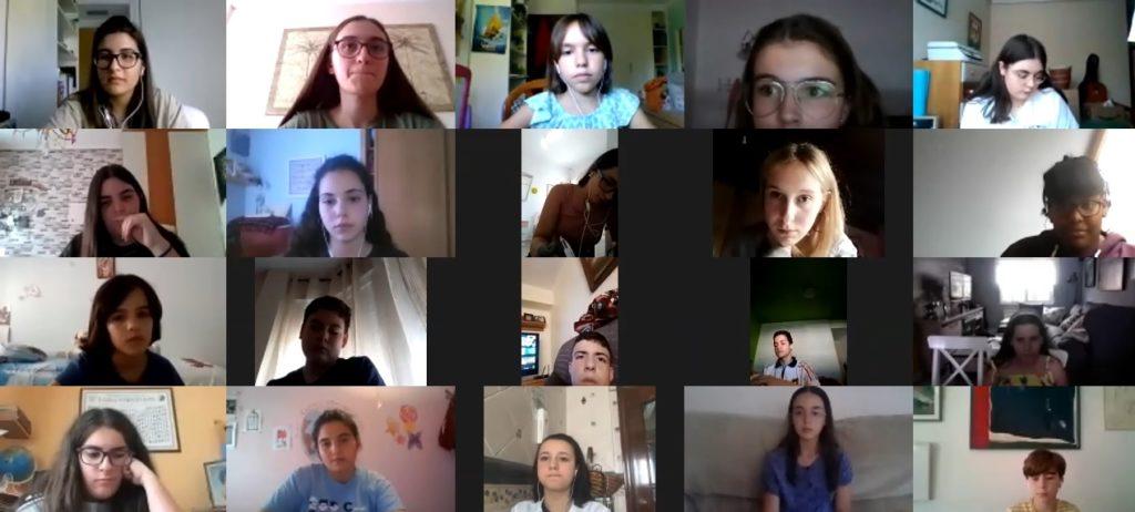 Participantes en la asamblea online