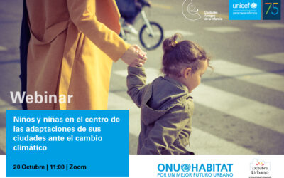 20 de octubre, seminario 'online': «Niños y niñas en el centro de las adaptaciones de sus ciudades ante el cambio climático»